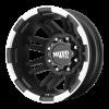 Moto Metal - MO963 DUALLY Matte Black Machined - Rear